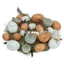 Easter wreath with eggs Ø24cm nature, white