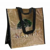 Shopping bag with handles Nature plastic 40 × 20 × 40cm