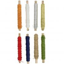 Paper cord wire wrapped Ø0,8mm 22m colored