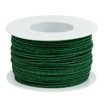 Paper cord wire wrapped around Ø2mm 100m green