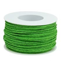 Paper cord wire wrapped Ø2mm 100m apple green