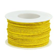 Paper cord wrapped in wire Ø2mm 100m yellow