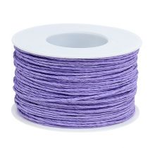 Paper cord wire wrapped Ø2mm 100m lavender
