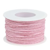 Paper cord wrapped in wire Ø2mm 100m pink