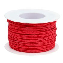Paper cord wire wrapped in Ø2mm 100m red