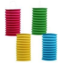 Paper lantern Ø15cm assorted colors. 4pcs