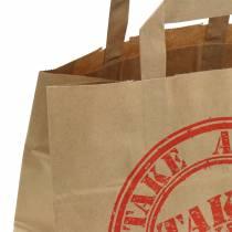 Paper bag take away 26cm x 17cm x 25cm 25pcs