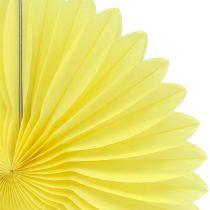 Party Deco Honeycomb Paper Flower Yellow Ø20cm 3pcs