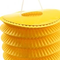 Train lantern yellow Ø10cm H13cm 8pcs