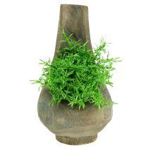 Plant pot Paulownia wood Ø1Plant pot Paulownia wood Ø17cm H30cm7cm H30cm