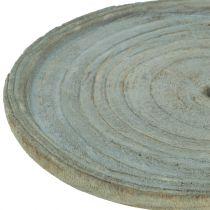 Deco plate Paulownia wood Ø22cm