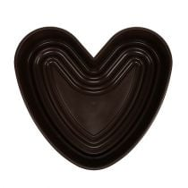 "Plant heart ""Amora"" brown 35 x 35cm, 1p"
