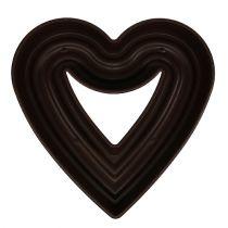 """Floral heart """"Amora"""" brown 45cm x 45cm"""