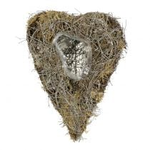 Plant heart made of vines and lichens Nature 25cm x 19cm