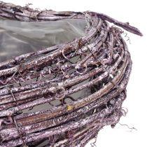 Plant heart of vine blackberry white washed 27cm x 24cm
