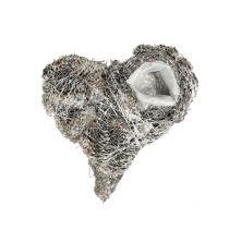 Plant heart cones 20x20cm whitewashed 3pcs