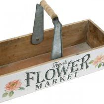 Plant box, flower decoration, wooden box for planting, flower box nostalgic look 41.5 × 16cm