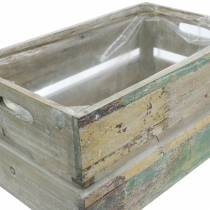 Planter wooden box 45/39 / 34,5cm 3pcs