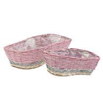 Plant Basket Set of 2 Wave Pink, Nature