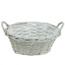 Plant basket round Ø28cm H12cm gray
