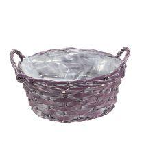 Plant basket round dark purple Ø20cm H10cm