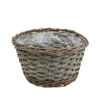 Plant Basket Gray Ø25cm H14cm 1pc
