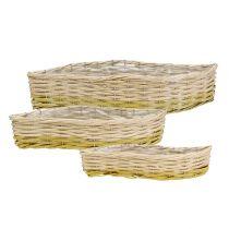 Planting basket wave set of 3 40/48/60cm
