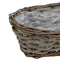Plant Basket oval gray 30cm x 15cm x 10cm 1pc