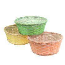 Plant basket round Ø25cm orange, yellow, green 6pcs