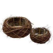 Plant Basket Vine and Branches Nature Ø37 / 28cm 2 piece set