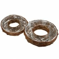Planting Ring Bark Nature Planting Bowl Ø50 / 43cm Set of 2