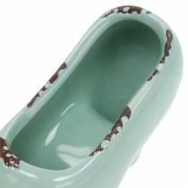 Planter Women's Shoe Ceramic Turquoise, Green, Blue Gray Assorted 14 × 5cm H7cm 6pcs