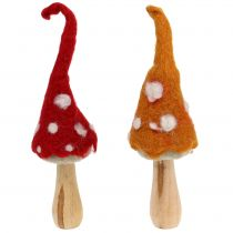 Mushrooms to stand Autumn decoration 2St