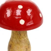 Toadstool made of red wood 15,5cm