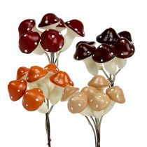 Mushroom assorted on the wire 3,5cm x 2cm 60pcs