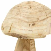 Mushroom paulownia wood Ø16cm H18cm