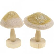 Decorative mushroom wood, felt with glitter, table decoration Advent H11cm