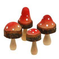 Wooden Mushrooms Mix 5,5cm - 8cm 8pcs