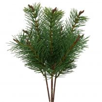 Artificial pine branch green 33cm 4pcs