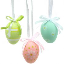 Easter eggs for hanging colorful 4cm 12pcs