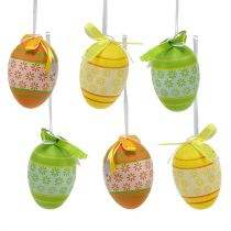 Plastic eggs 4cm colored 36pcs