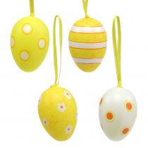 Plastic Eggs Hanger Yellow 6cm 12pcs