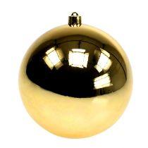Plastic ball gold small Ø14cm 1p