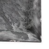 Plastic plate angular anthracite 31cm x 31cm