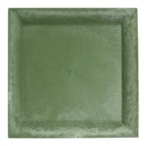 Plastic plate green square 19,5cm x 19,5cm