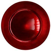 Plastic Plate Red Ø17cm 10 St