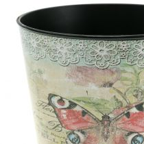 Decorative pot vintage butterfly Ø17cm