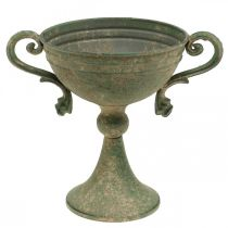 Cup with handles, metal goblet, amphora for planting Ø14cm H18cm