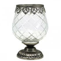 Glasslight cup antique Ø13cm H18,5cm