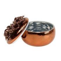 Porcelain box copper Ø7,5cm H6cm